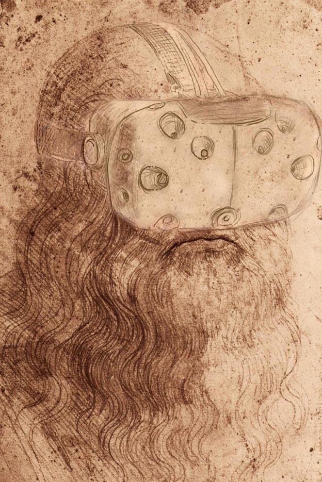 Léonard de Vinci en immersion 3D jeu MécaLéoVR.