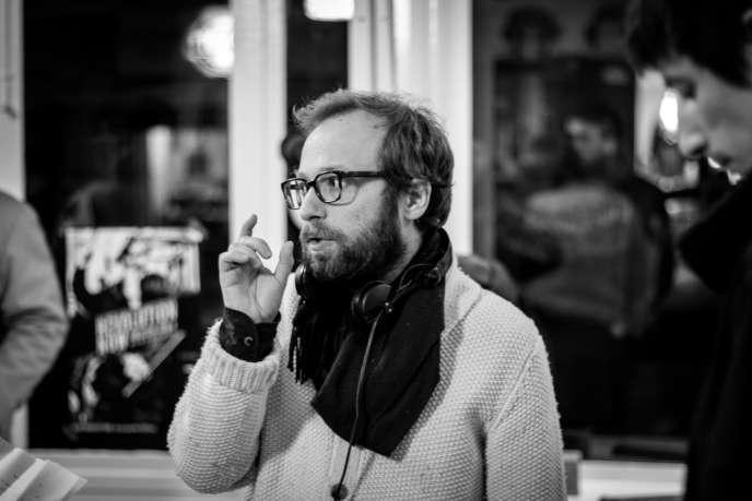 Le réalisateur Nicolas Pariser sur le tournage du «Grand Jeu», son premier long-métrage, en 2015.