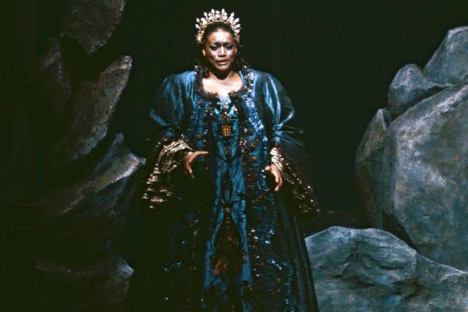 Jessye Norman, au Metropolitan Opera de New York, en 1984.