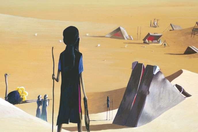 Le film d'animation « Gwen, le livre de sable » (1985).