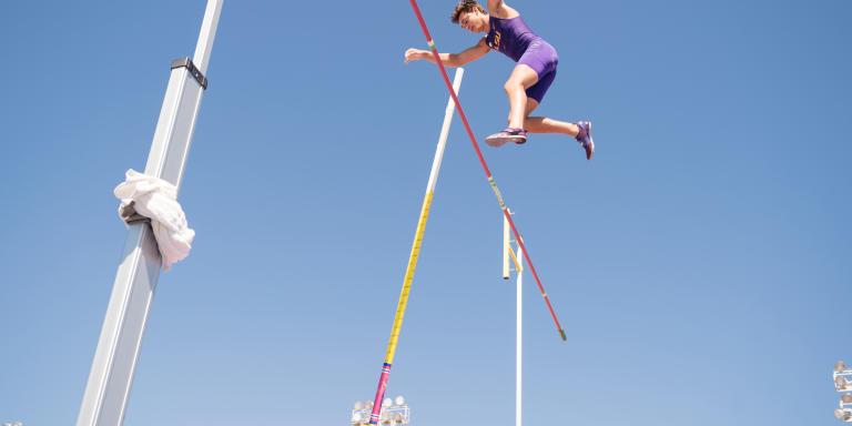 BATON ROUGE, USA -- APRIL 20: Pole Vaulting Olympian Armand