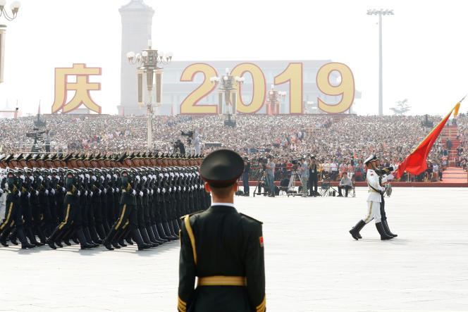 Parade militaire sur la place Tiananmen, lors du 70e anniversaire de la République populaire de Chine, le 1er octobre.