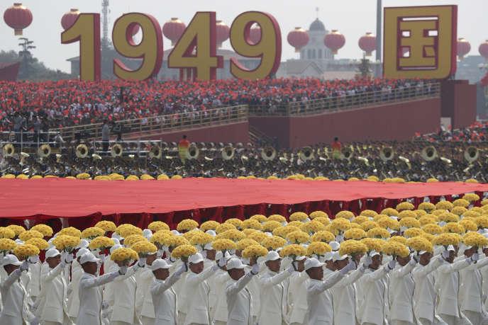 Célébrations du 70e anniversaire du régime chinois, à Pékin, le 1er octobre.