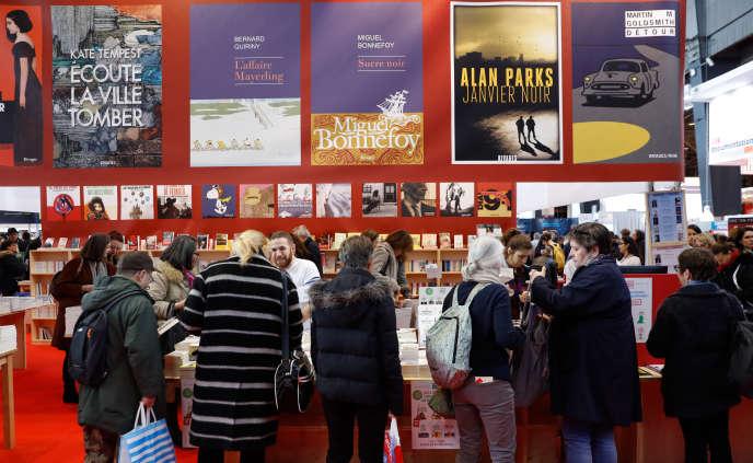 Au Salon du livre, à Paris, en mars 2018.