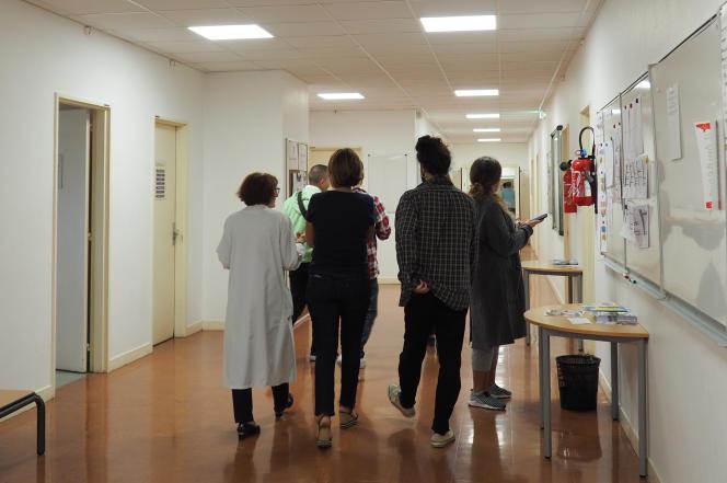 Des étudiants infirmiers de l'IFSI Henri-Mondor de Créteil (Val-de-Marne).