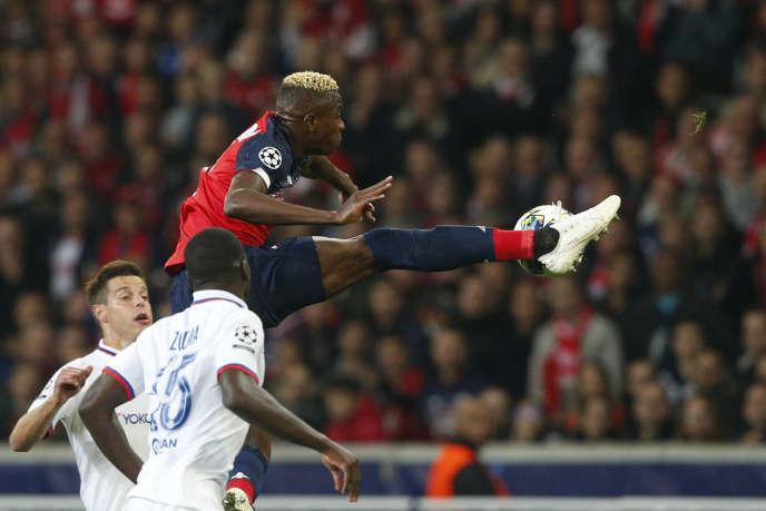 Le Lillois Victor Osimhen a marqué face à Chelsea, mais n'a pu empêcher la défaite des siens.