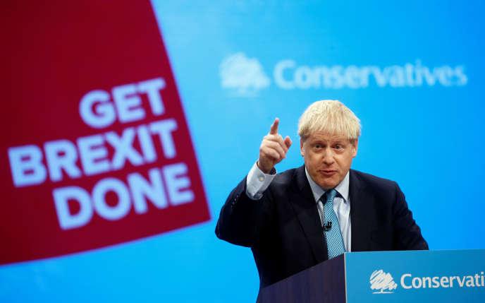 Boris Johnson a déclaré congrès annuel du Parti conservateur: « Le Royaume-Uni fait un compromis, et j'espère vraiment que nos amis européens le comprendront et feront un compromis à leur tour.»