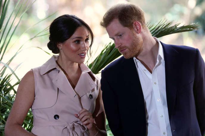 Le prince Harry et son épouse Meghan, duc et duchesse de Sussex, à Johannesburg, le 2 octobre 2019.