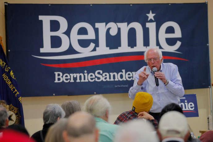 Bernie Sanders lors d'un meeting à Hooksett, dans le New Hampshire, le 30septembre.