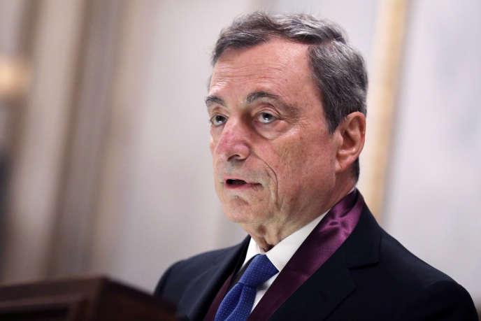 Le président de la BCE, Mario Draghi, à Athènes, le 1er octobre.