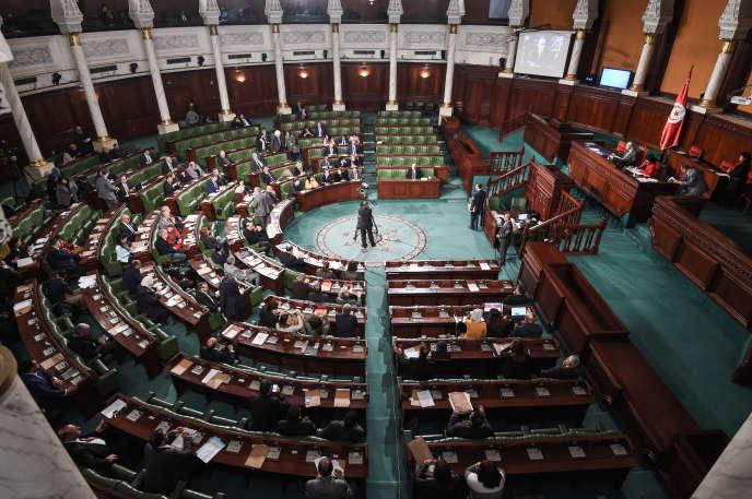 L'Assemblée des représentants du peuple, à Tunis, en février 2018.