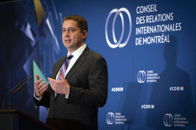 Andrew Scheer, leader du Parti conservateur du Canada, à Montréal, le 7mai 2019.