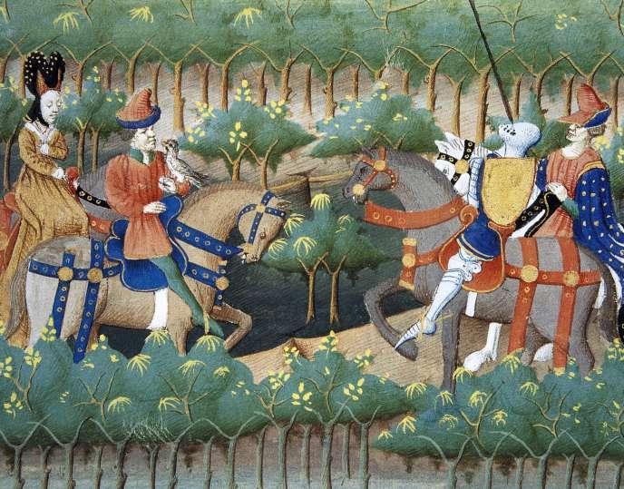 « Tristan et Yseult», miniature du XVe siècle.