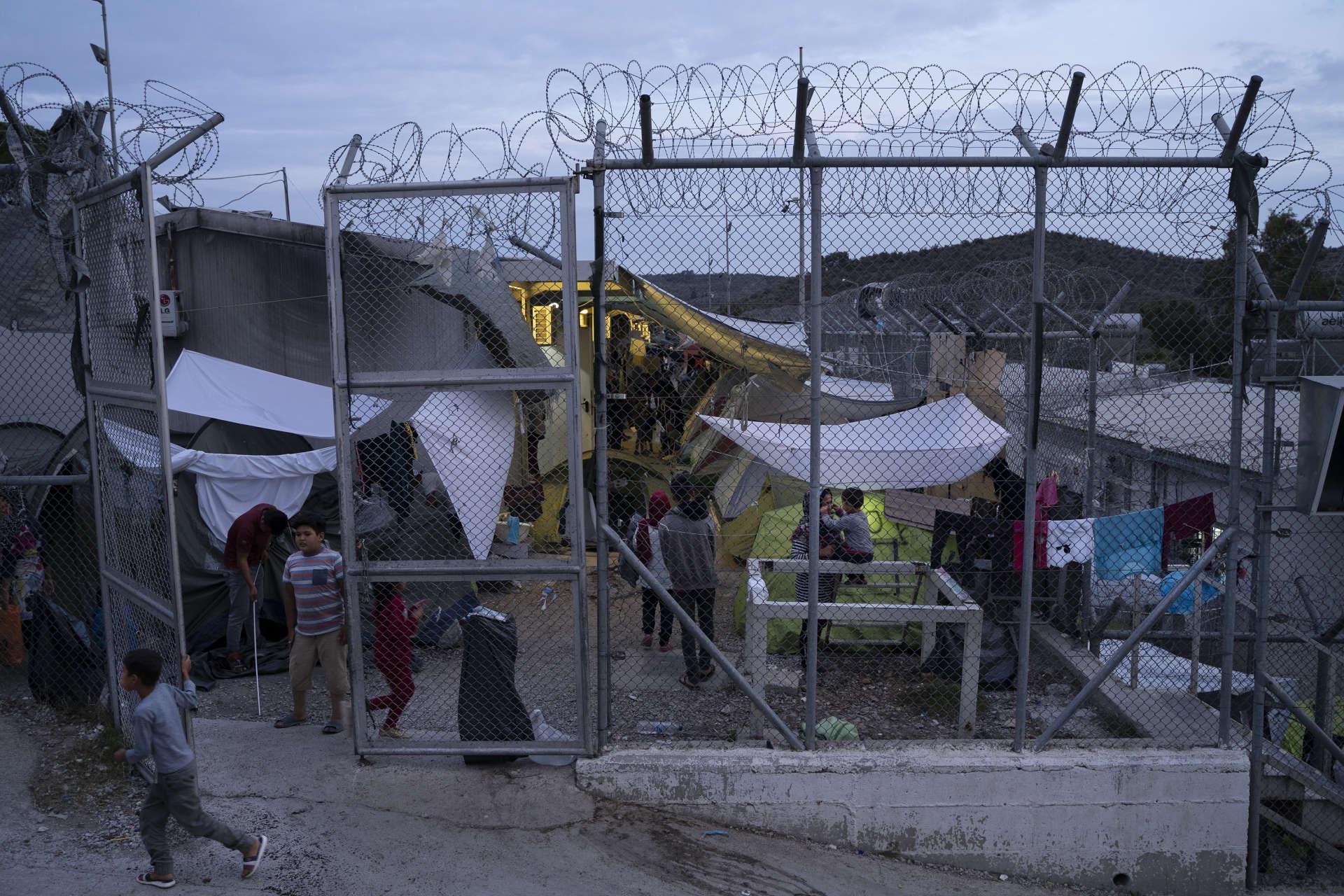 Dans le camp de Moria, sur l'île grecque de Lesbos, le 19 septembre.