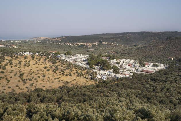 Vue du camp de Moria sur l'île grecque de Lesbos, le 19 septembre.