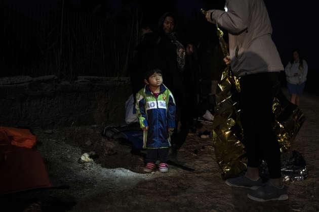 Un bateau vient de débarquer entre Skala Sikamineas et Molivos, avec à son bord 37 personnes originaires d'Afghanistan.