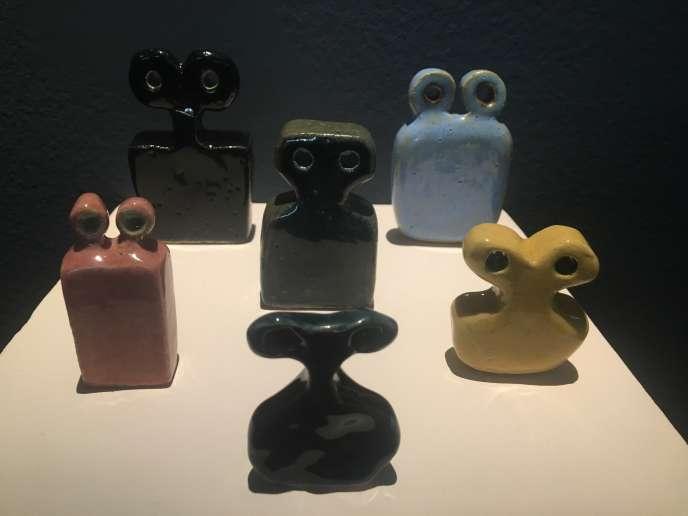 Les céramiques de Rand Abdul Jabbar exposées à la Biennale d'art contemporain de Rabat, au Maroc.