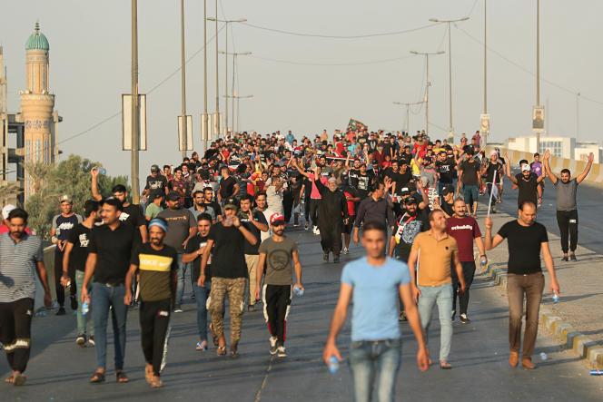 Manifestation à Bagdad, le 3 octobre.