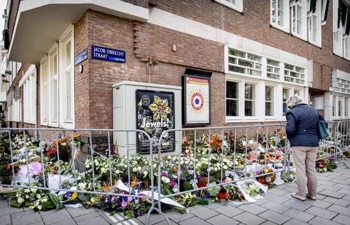 Hommage à l'avocat Derk Wiersum, à Amsterdam, le 19 septembre.