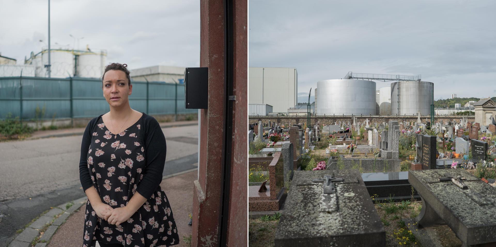 Distance de l'usine Lubrizol: 245mètres.«J'espère que cette usine ne se reconstruira jamais», témoigne Camille Auger, habitante la plus proche du foyer de l'incendie.