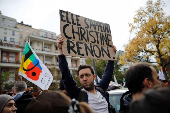 Au rassemblement de Bobigny (Seine-Saint-Denis), jeudi 3 octobre.