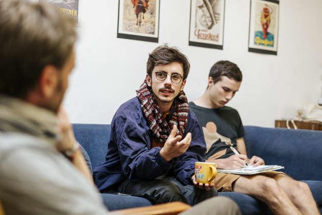 Vincent Liegey, Clément Choisne et Paul-HenriFrançois (de gauche à droite), à Budapest, le 19 septembre 2019.