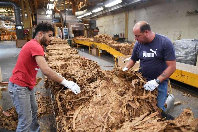 L'usine de France Tabac à Sarlat-la-Canéda, en Dordogne, le 20 septembre.