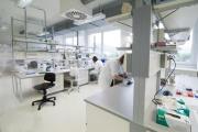 Dans un laboratoire d'analyse génétique.