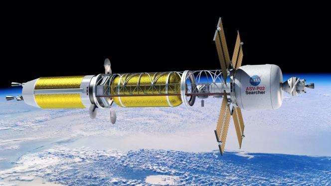 Vaisseau spatial à propulsion nucléaire (vue d'artiste).