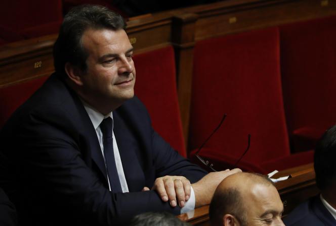 Thierry Solère, à l'Assemblée nationale, le 17 octobre 2017.
