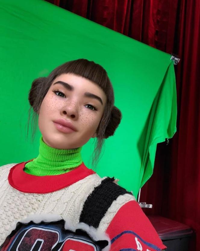 Lili Miquela, 19 ans, créée par un logiciel 3D, influenceuse de mode.