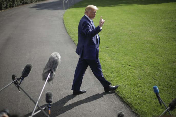 Le président Donald Trump, à la Maison Blanche, à Washington, vendredi 4 octobre.