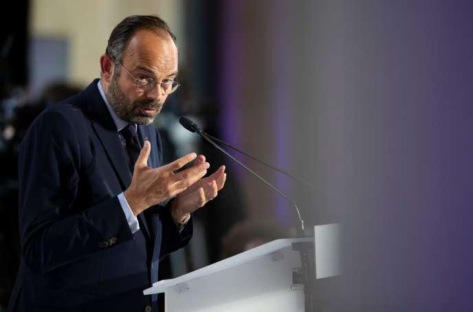 Edouard Philippe devant le Conseil économique, social et environnemental, à Paris, le 4 octobre.