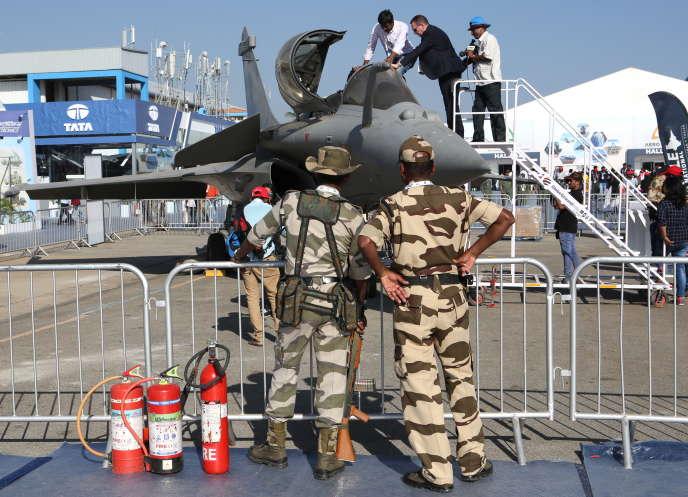 Un Rafale de Dassault, à Bangalore, dans le sud de l'Inde, le 20 février.