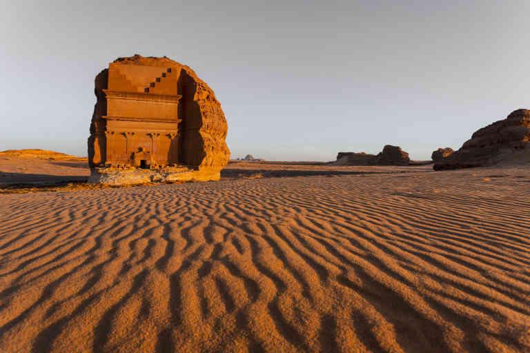 Tombe nabatéenne à Qasr el Farid.  ©  Qasr Al Farid, Madain Saleh, AlUla © Hubert Raguet