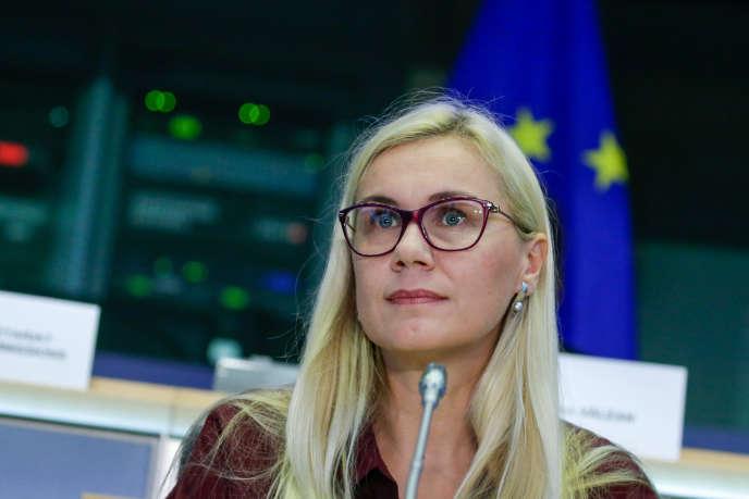 Kadri Simson est entendue par les eurodéputés à Bruxelles pour devenir la prochaine commissaire à l'énergie, jeudi 3 octobre.
