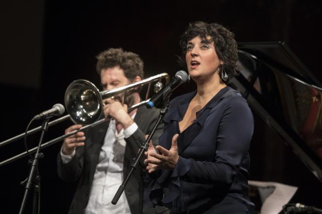Paris, samedi 5 octobre 2019, Le Monde Festival au Théatre des Bouffes du Nord avec Marion Rampal et Pierre-François Blanchard et son groupe. En guest : Hakim Hamadouche.