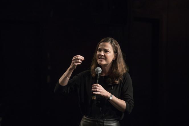 Paris, samedi 5 octobre 2019, Le Monde Festival au Théatre des Bouffes du Nord avec Claire Marin.