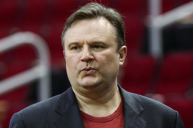 Daryl Morey, le directeur général des Rockets, à Houston (Texas), en décembre 2018.