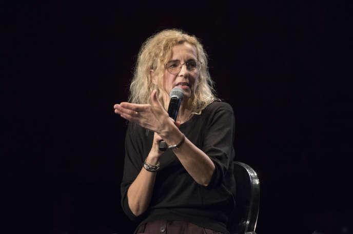 Delphine de Vigan aux Bouffes du Nord à Paris, le 6 octobre.