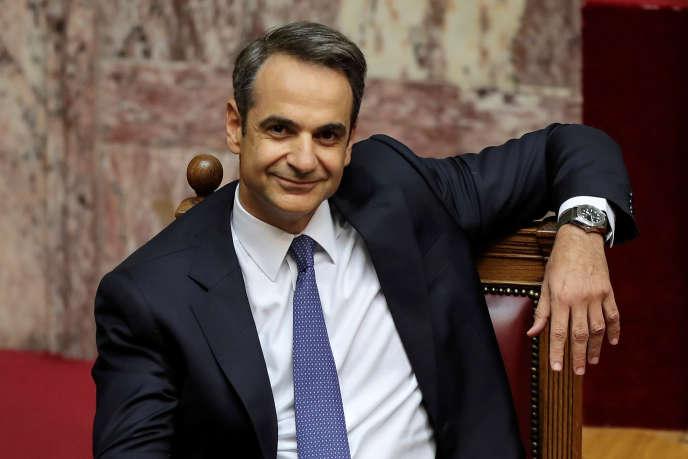 Kyriakos Mitsotakis, premier ministre grec, le 20 juillet 2019, à Athènes.