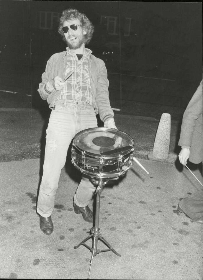 Le batteur de jazz Ginger Baker, le 20 octobre 1979.