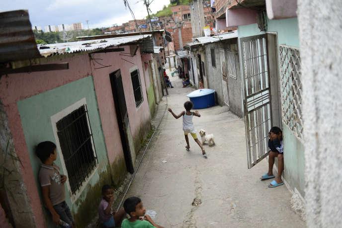 Dans le bidonville de Petare, à Caracas, le 29 septembre 2019.