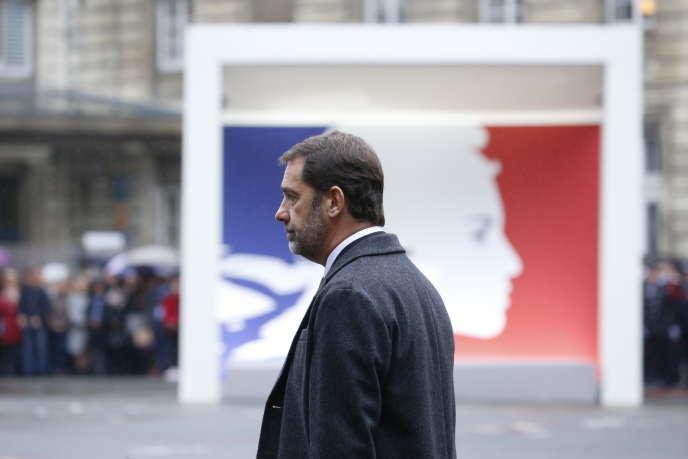 Christophe Castaner, na cerimônia, terça-feira, 8 de outubro.