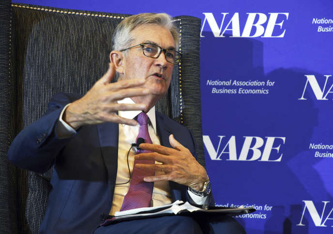 Jerome Powell, le président de la banque centrale américaine, à Denver (Colorado), le 8 octobre.