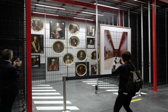 Le centre de conservation du Louvre, inauguré à Liévin, le 8 octobre 2019.