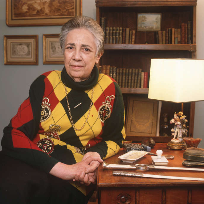 L'historienne Georgette Elgey, en 1992.