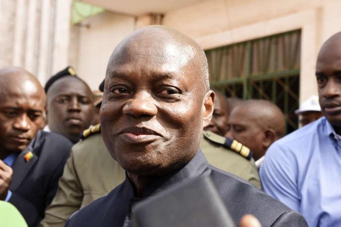 Le président de Guinée-Bissau, José Mario Vaz, se présente en tant que candidat indépendant à l'élection présidentielle. Ici, à Bissau, le 10 mars 2019.