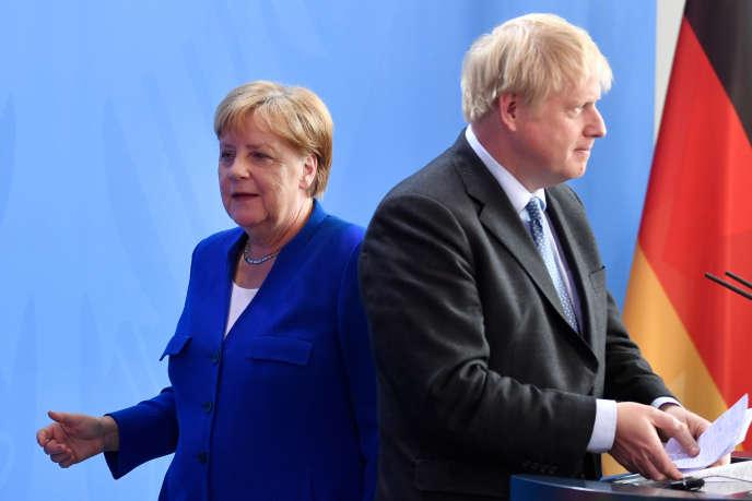 Angela Merkel et Boris Johnson lors d'une rencontre à Berlin, le 21 août.