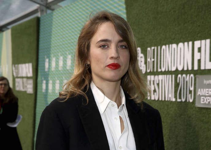 Adèle Haenel, à la première du film de Céline Sciamma «Portrait de la jeune fille en feu», à Londres, le 8 octobre.